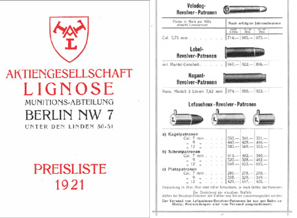 Lignose 1921 Munitions-Abteilung