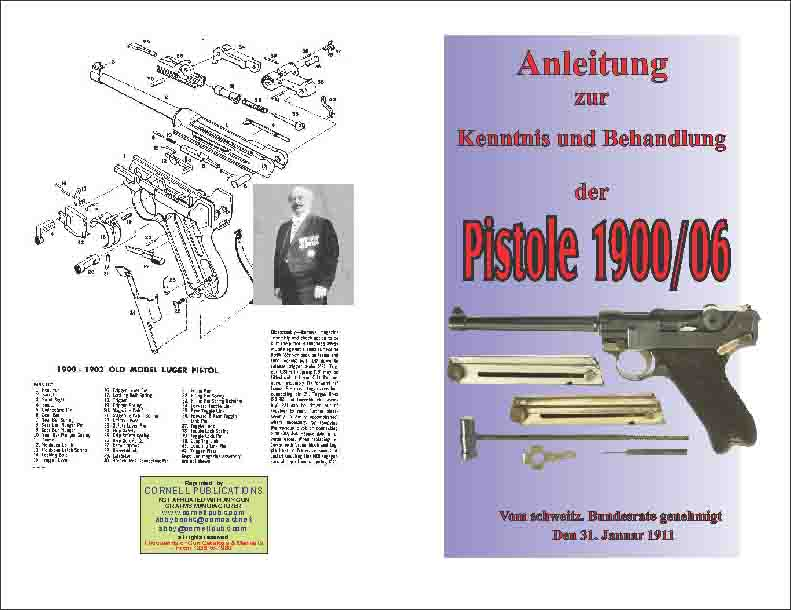 Anleitung Luger 1900/06 Pistole 1900/06 In German- Operations Manual