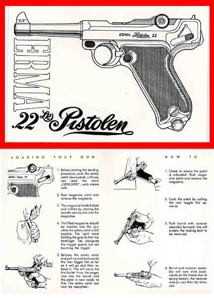 Luger - Erma .22 Pistol Manual c1965