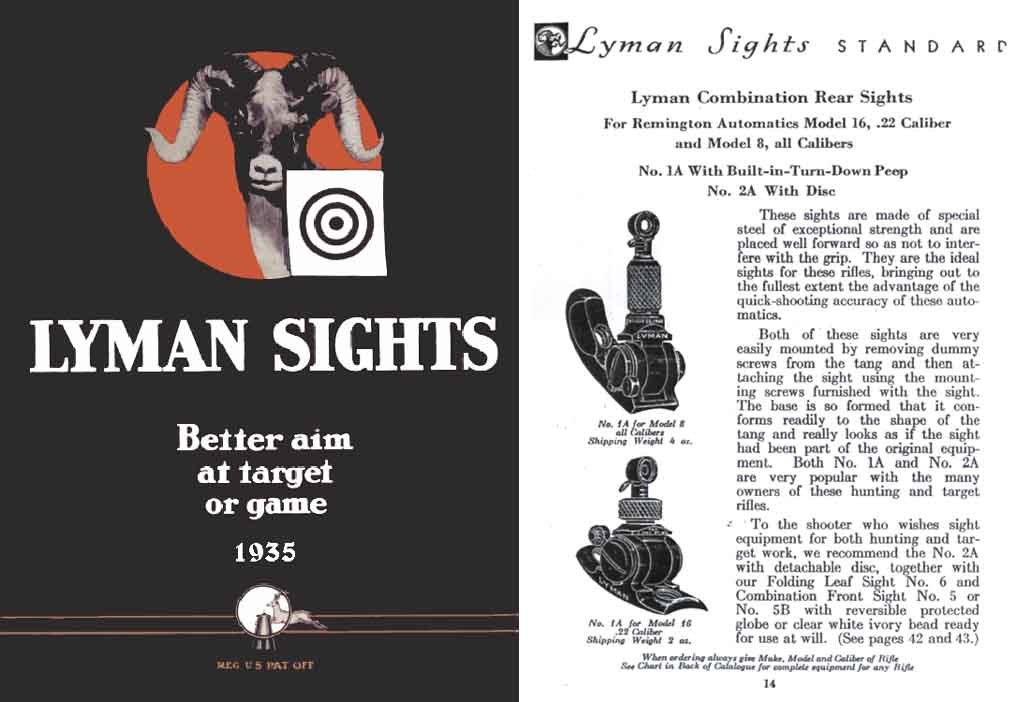 Lyman 1935 Gun Sights Catalog #23