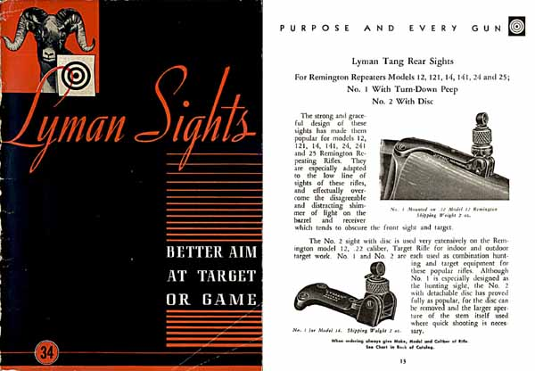 Lyman 1949 Gunsights Catalog #34