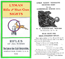 Lyman 1909 Rifle and Shot Gun Sights Catalog