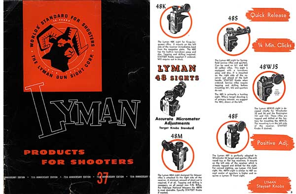 Lyman 1953 Sight Catalog Number 37