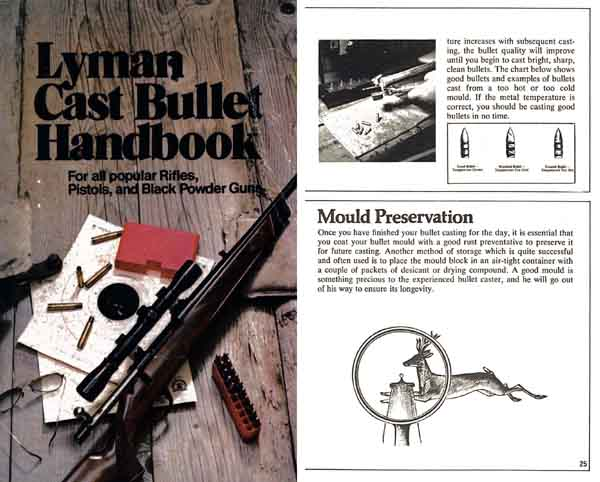 Handbook of Cast Bullets by Lyman Corp 1973