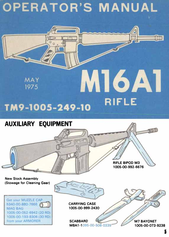 M16A1 1975 Rifle Operator's Manual