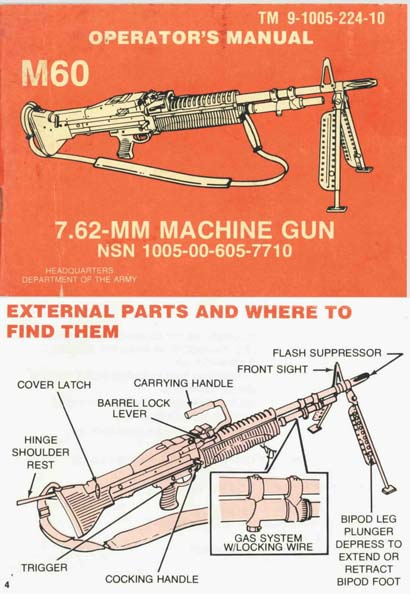 M60 Machine Gun Manual- DOA TM 9-1005-224-10