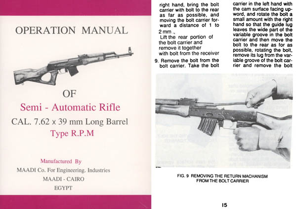 MAADI-OF Semi-Auto Rifle Type RPM- Egypt- Manual