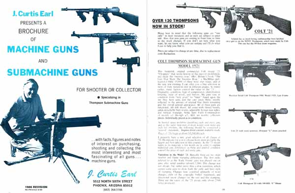 J Curtis Earl's Machine Guns 1986 - Big Investments!