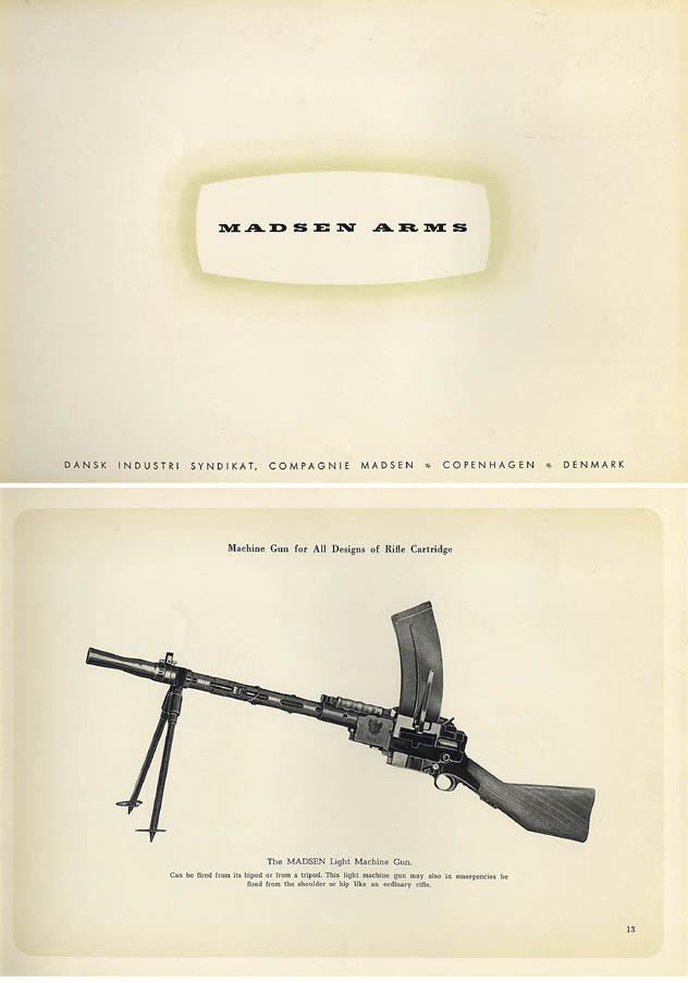Madsen 1951 circa Weapons Catalog (Denmark, in English)