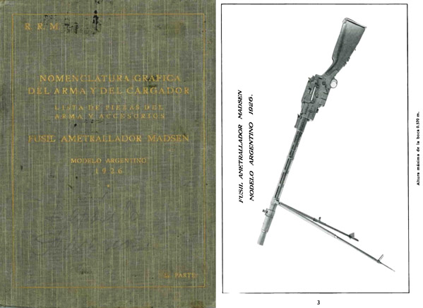 Madsen c1930 Machine Gun Argentine Model 1926 Manual