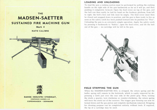 Madsen-Saetter c1960 Mk4 Sustained Fire Machine Gun Brochure- English