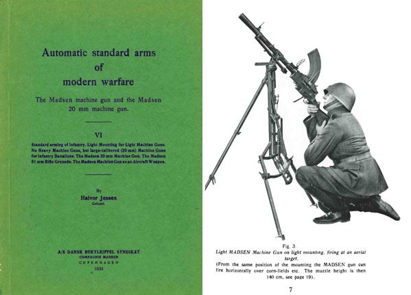 Madsen 1933 Machine Gun & 20mm Machine Gun