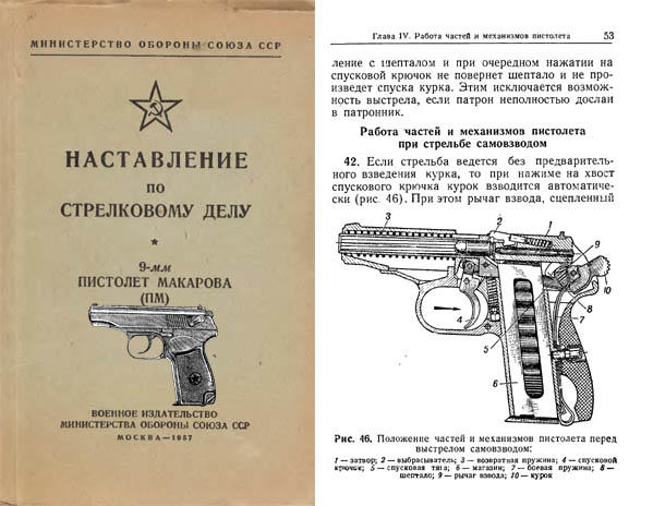 Russian Makarov Pistol 1957 (PM) 9mm Third edition, revised