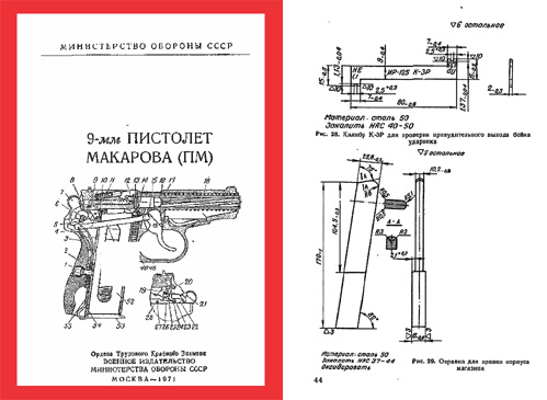 Russian Makarov Pistol 1971 (PM) 9mm Technical Manual