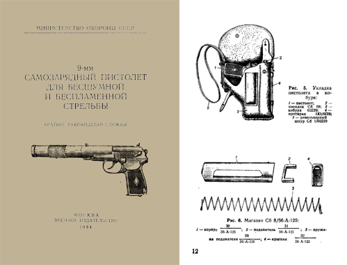 Russian Makarov Pistol 1984 Silenced 9mm Model User Manual