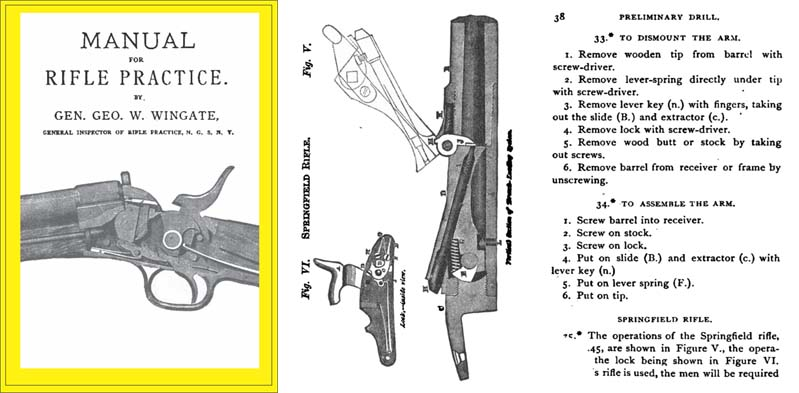 Manual of Rifle Practice 1875, Remington, Springfield & Peabody- Wingate
