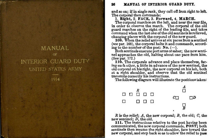 Manual of Interior Guard Duty 1914 - U.S. Army War Office