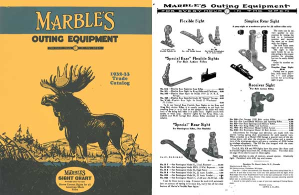 Marbles 1932-33 Outing Equipment Trade Catalog