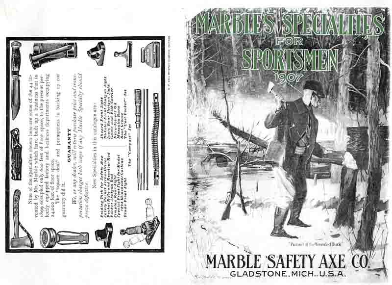 Marbles 1907 Specialties for Sportsmen Gun & Knife Catalog