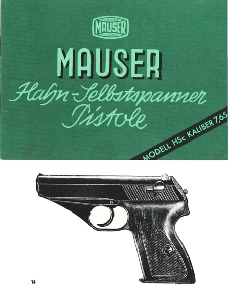 Mauser HSc Pistol Manual (German)