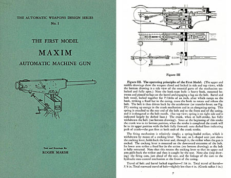 First Model Maxim Auto Machine Gun - Marsh