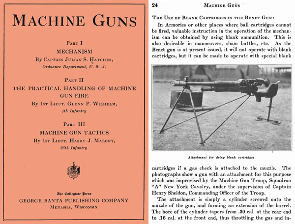Machine Guns 1917- Mechanism, Handling and Tactics