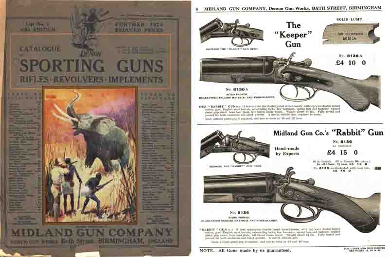 Midland Sporting Guns 40th ed- 1924 Catalog