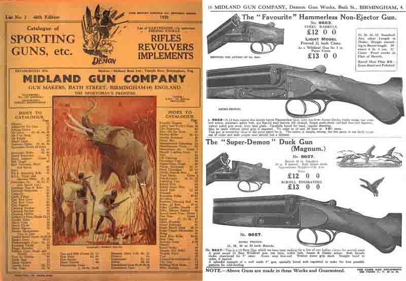 Midland Sporting Guns 68th ed 1939 Catalogue