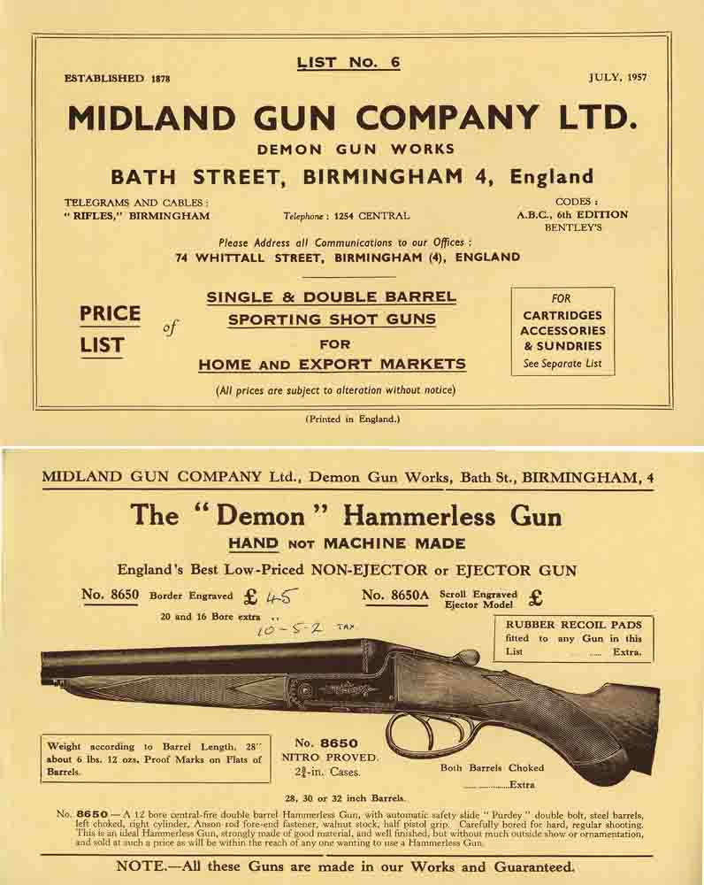Midland Sporting Guns 1957 Catalog