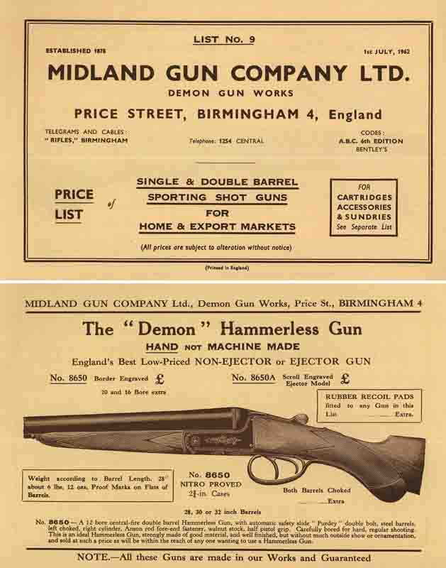 Midland Sporting Guns 1962 Catalogue