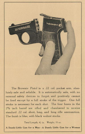 Mossberg c1925 Brownie Pistol Manual