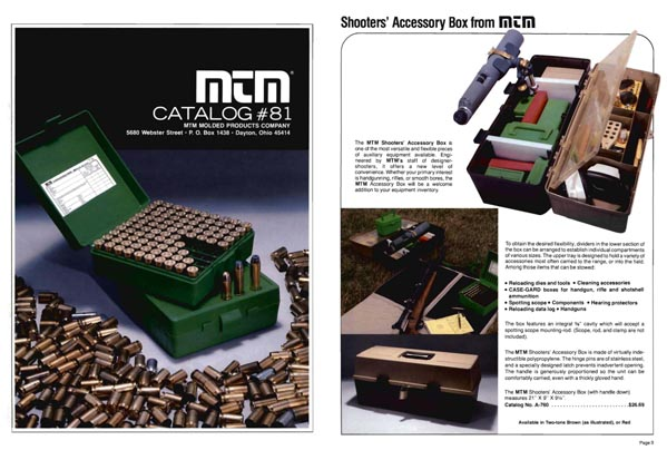 MTM 1981 Ammunition Accessories Catalog, Dayton, OH