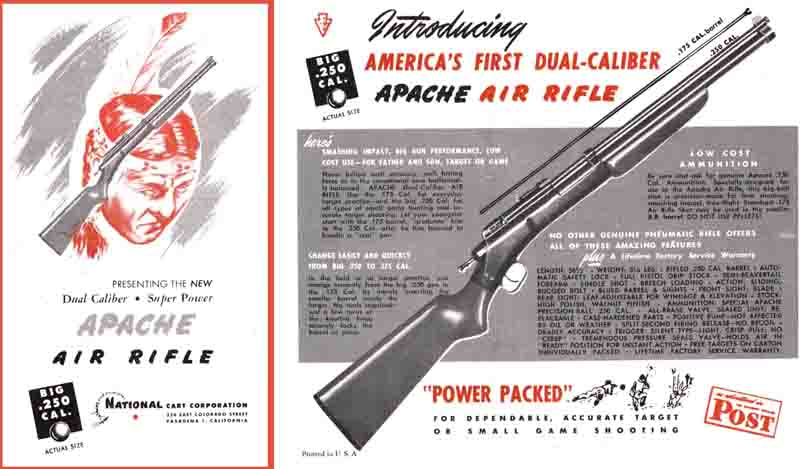 Apache Air Rifle Catalog 1947 National Cart