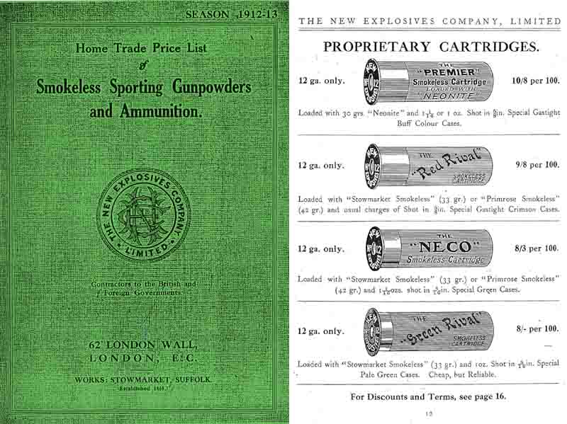 New Explosives Co. 1912-1913 Ammunition Catalogue