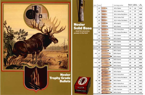 Nosler c1981 Trophy Grade Bullets Flyer