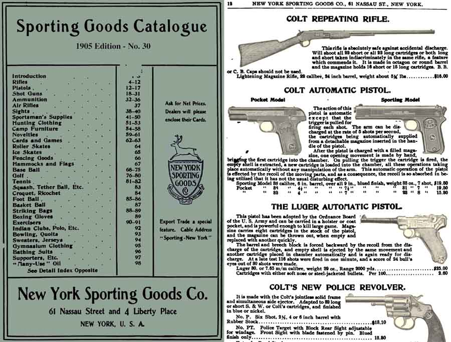 New York Sporting Goods 1905 Catalog