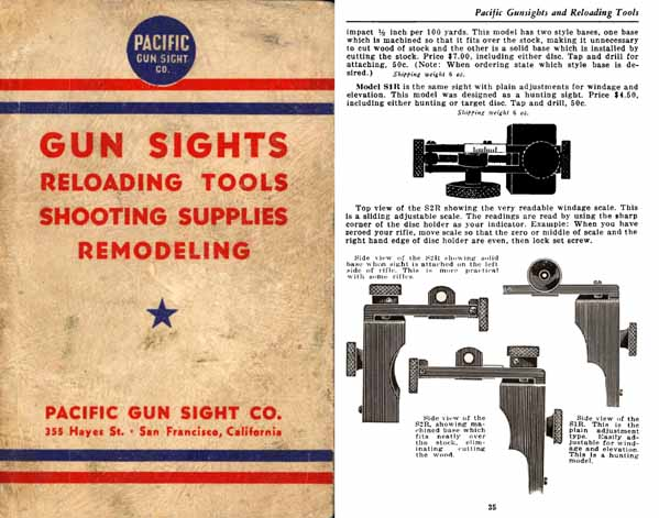 Pacific 1941 Gun Sights Catalog