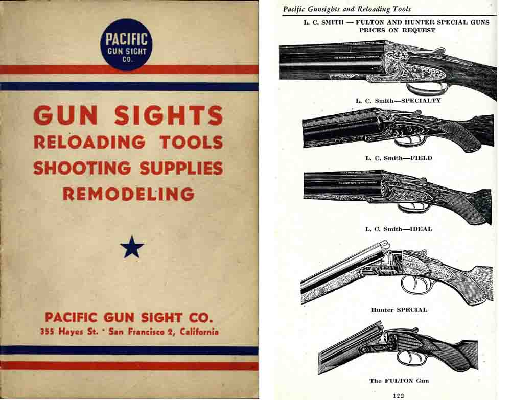 Pacific Gun Sights and Reloading 1944 Gun and Accessory Catalog