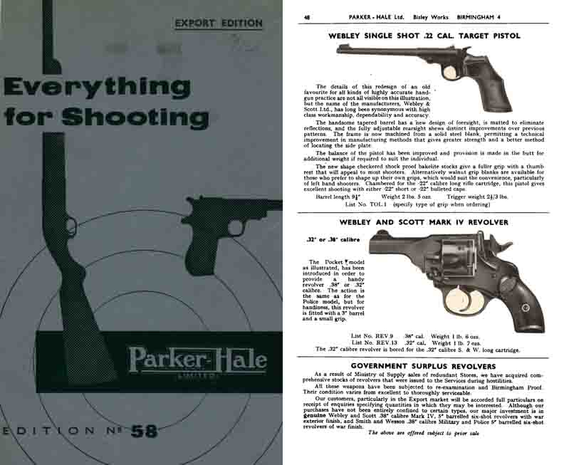 Parker-Hale 1958-9 No. Export Edition Shooting & Accessories
