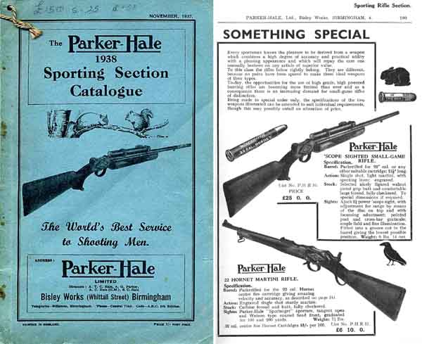 Parker Hale 1938 Sporting Section Catalog