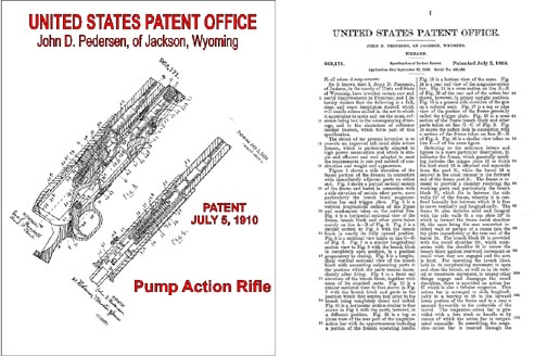 Pedersen Pump Rifle 1910 Patent Approval