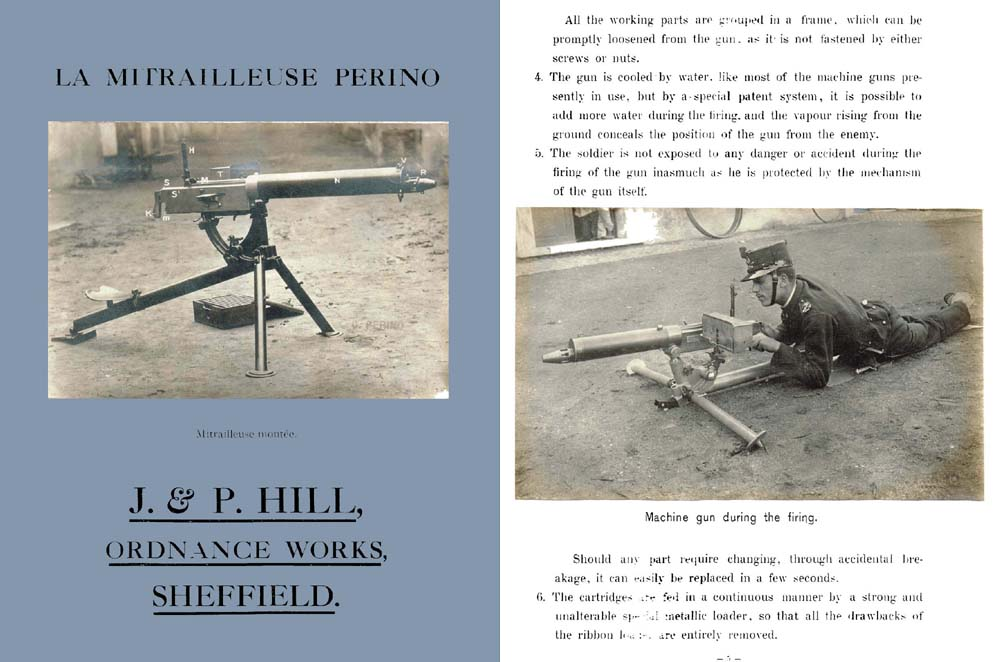 Perino Model 1908 Machine Gun Manual (Ital. & UK)