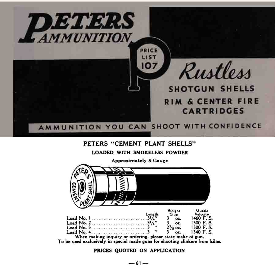 Peters 1935 Ammunition Catalog