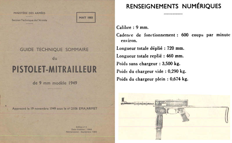 Pistolet-Mitrailleur c1964 9mm M1949-French- Manual