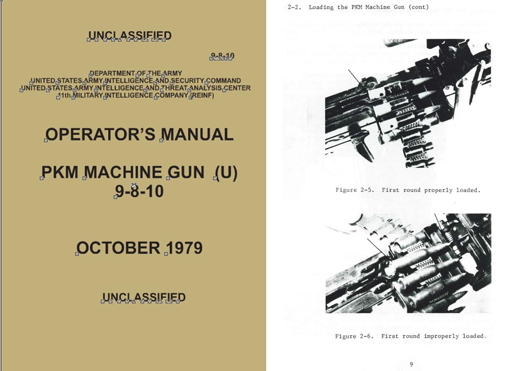 PKM 1979 Machine Gun Operators Manual