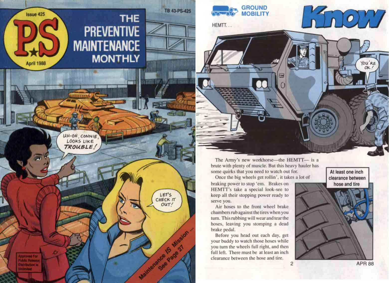 PS Preventive Maint Monthly No 425, 1988 (US Army Comic)