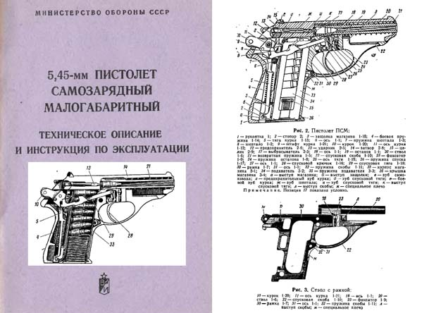 Russian PSM 1979 5.45mm Self-Loading Pistol Manual