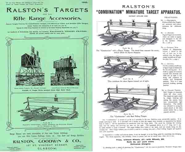 Ralston Targets and Accessories 1906, Glasgow, Scotland