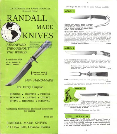 Randall Made Knives 1965 Catalog