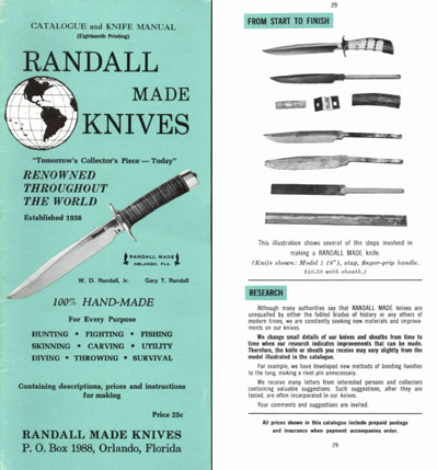 Randall Made Knives 1967 Catalog